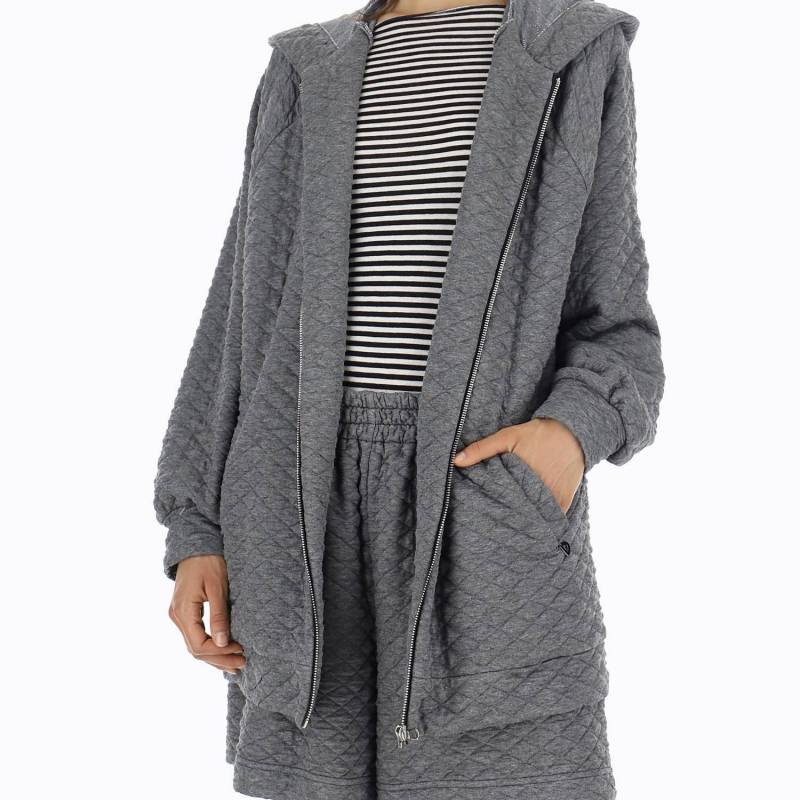 Sudadera oversize acolchada con capucha